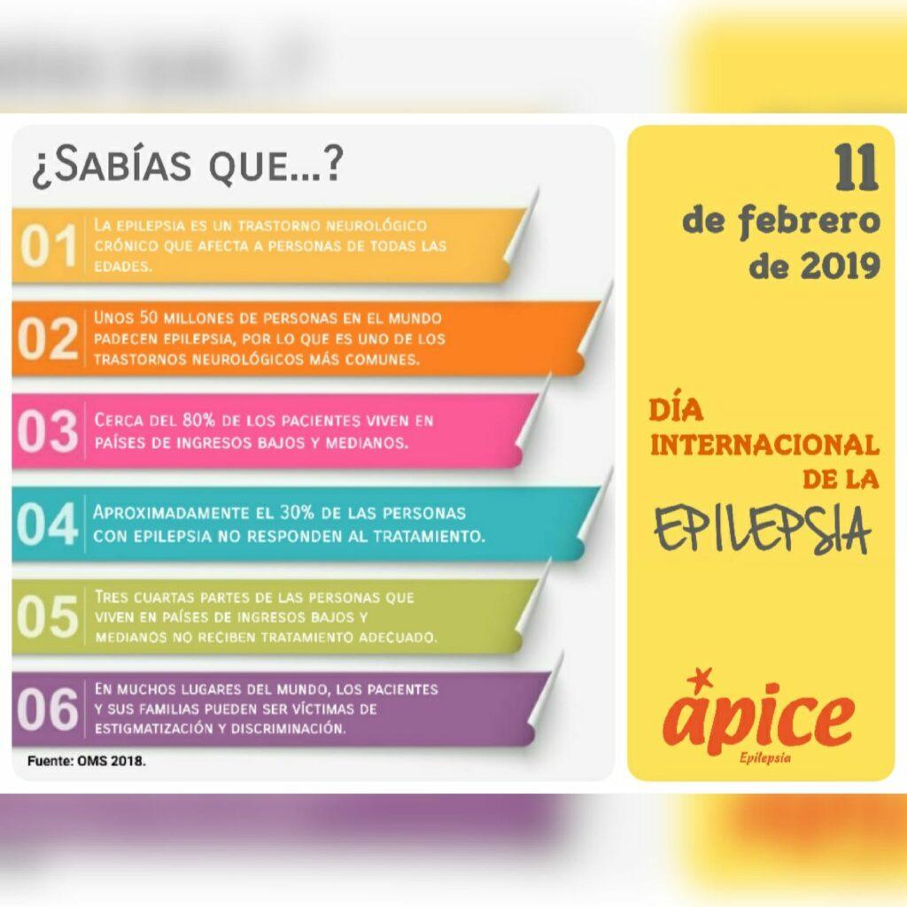 Cartel dando información general sobre la Epilepsia por el día internecional