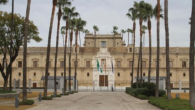 La fachada del Parlamento de Ándalucía