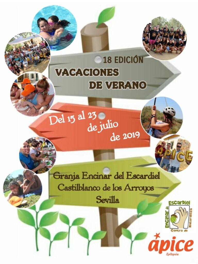 Cartel anunciando las Vacaciones de Verano 2018